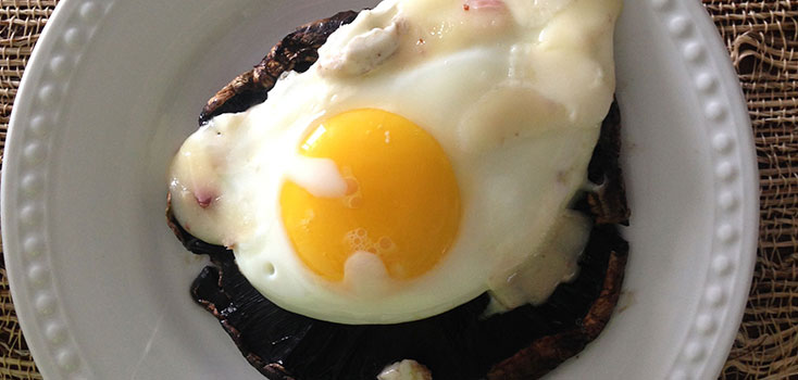 Grilled Portobella with Fried Egg