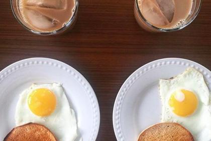 Symmetrical Fried Egg Breakfast
