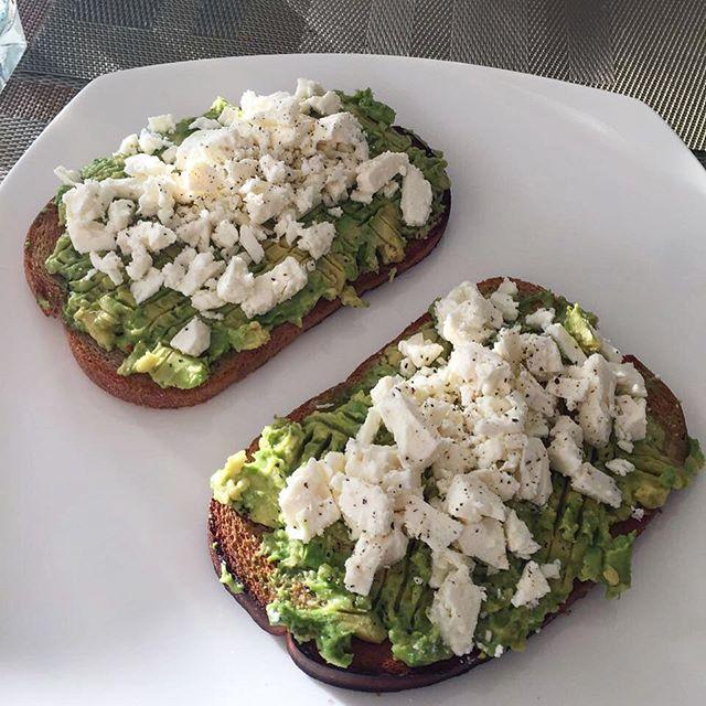 avocado and feta