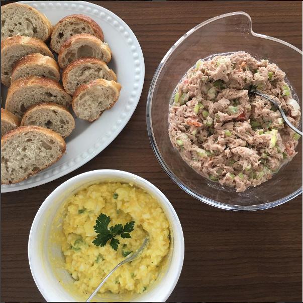 Tuna salad and egg salad dannifer 39 s kitchen for How to make tuna fish with eggs